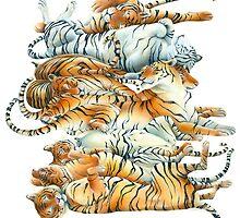 Tiger Sprawl by susancranelink