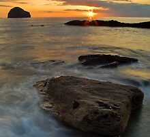 Gull Rock Sunset by David Wilkins