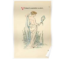 A flower wedding - Described by Two Wallflowers by Walter Crane 1905 58 - Venus's Looking Glass Poster