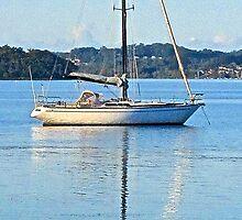 Yacht, Brisbane Water, Koolewong, NSW - 2013 by Bruce Northcott