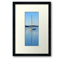 Yacht, Brisbane Water, Koolewong, NSW - 2013 Framed Print