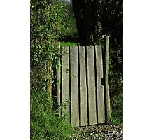 Wood Gate in a Pasture Photographic Print