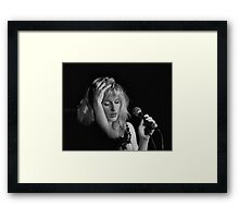 Fading into the break Framed Print