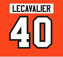 Philadelphia Flyers Vincent Lecavalier Jersey Back Phone Case by Russ Jericho