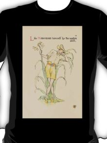 A flower wedding - Described by Two Wallflowers by Walter Crane 1905 30 - Like Narcissus himself by the waters still T-Shirt
