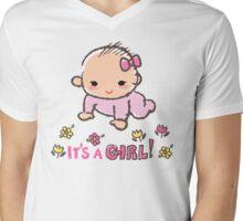 Baby shower - It's a girl! Mens V-Neck T-Shirt