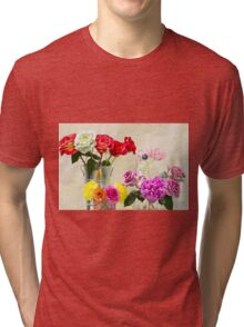 Symphony Of Rainbow Flowers Tri-blend T-Shirt
