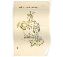 A flower wedding - Described by Two Wallflowers by Walter Crane 1905 63 - And a Lady's Cushion Poster