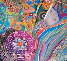 Utopia (acrylics on canvas 60 X 60 cm) by Marilia Martin