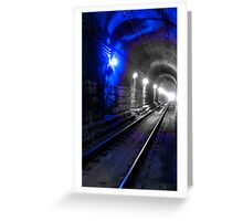 Blue Metro Greeting Card