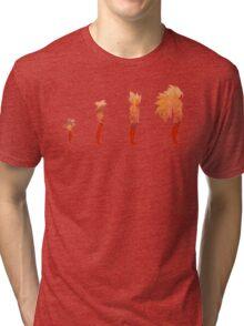 The Evolution of a Saiyan Tri-blend T-Shirt