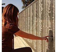 Veterans Memorial - All Gave Some... Some Gave All Photographic Print