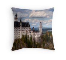 Fairytale Castle (Neuschwanstein) Throw Pillow