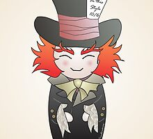 Kokeshi Mad Hatter by Pendientera