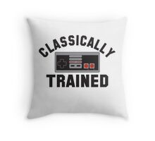 Classically Trained Nintendo T-Shirt Throw Pillow
