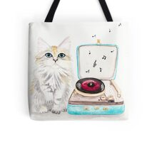 Kitty Got a Record Player Tote Bag
