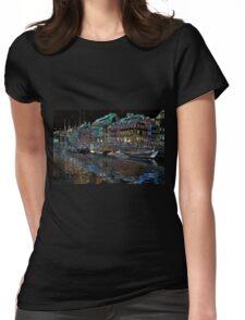 Copenhagen. Nyhavn 17 Womens Fitted T-Shirt