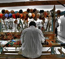 Working the Loom by Roddy Atkinson
