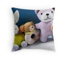 Toy Lineup Throw Pillow