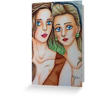 Suicide Girls Portrait  Greeting Card