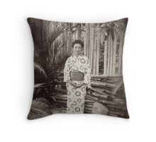 Japanese Geisha Throw Pillow