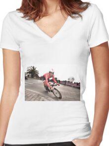 Fabian Cancellara Women's Fitted V-Neck T-Shirt