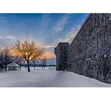 Le soleil fort brûlant - Fortified flaming sun Photographic Print