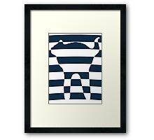 Stripped blue cat Framed Print
