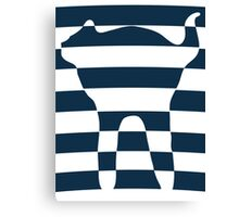 Stripped blue cat Canvas Print