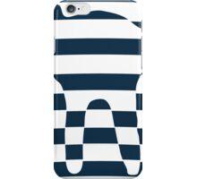 Oval stripped blue cat iPhone Case/Skin