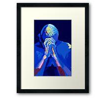 BLUE PRAYER Framed Print