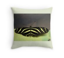 Zebra Longwing (Heliconius charithonia) Throw Pillow