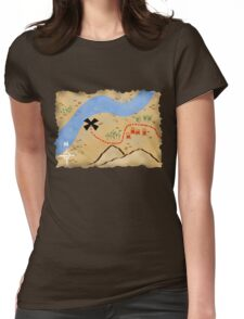 Treasure Map Womens Fitted T-Shirt