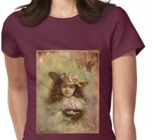 Girl with blue eggs Womens Fitted T-Shirt