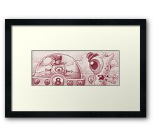 Buggle and Snappy surprise themselves... Framed Print
