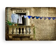 Knickers on a line Canvas Print