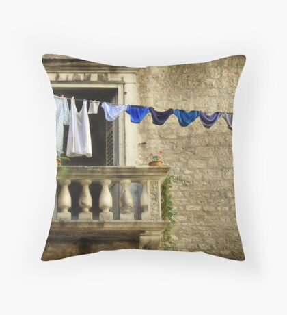Knickers on a line Throw Pillow