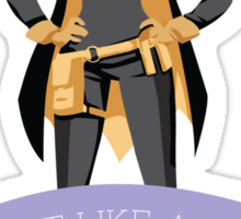 Fight Like a Girl: Batgirl Sticker