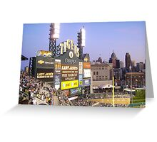 Tiger Stadium on an August night. Greeting Card