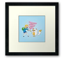 Fight Like a Girl: Fionna + Cake Framed Print