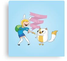 Fight Like a Girl: Fionna + Cake Canvas Print