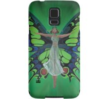 Art Nouveau Vintage Flapper With Butterfly Wings Samsung Galaxy Case/Skin