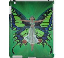 Art Nouveau Vintage Flapper With Butterfly Wings iPad Case/Skin