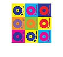 Vinyl Record Player Turntable Pop Art Photographic Print