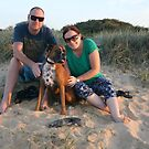 15. Jaclyn & Marc & their boxer by Cathie Brooker