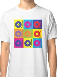 Vinyl Record Player Turntable Pop Art Classic T-Shirt