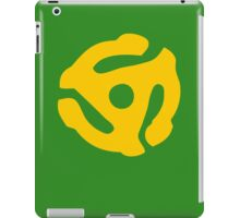 Yellow 45 RPM Vinyl Record Symbol iPad Case/Skin
