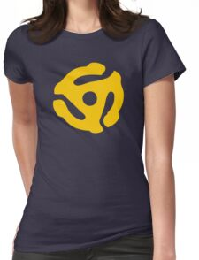 Yellow 45 RPM Vinyl Record Symbol Womens Fitted T-Shirt