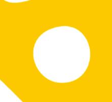 Yellow 45 RPM Vinyl Record Symbol Sticker