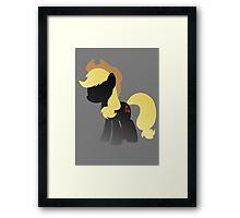 Monochrome Applejack Framed Print